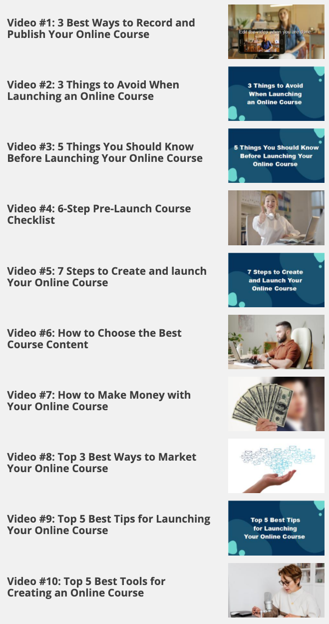 Create and launch Your Online Course